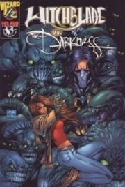 Witchblade Vs. Darkness Wizard #1/2 Half Credit Card Variant COA Top Cow comic book